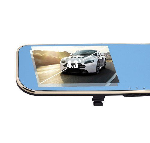 Retrovisor Automotivo Com Camera De Ré e Filmadora Frontal Lcd