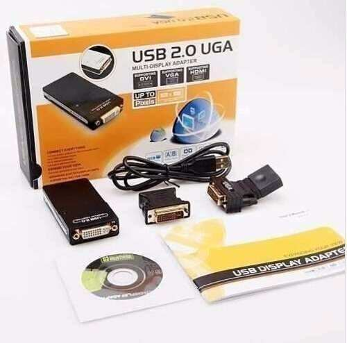 Adaptador De Vídeo Usb 2.0 X Vga Dvi Hdmi Multi Display Uga
