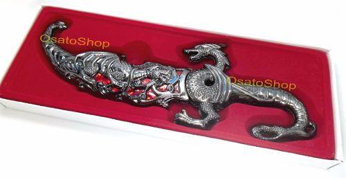 Adaga Dragão Aço Inox Faca Espada Coleção 25cm