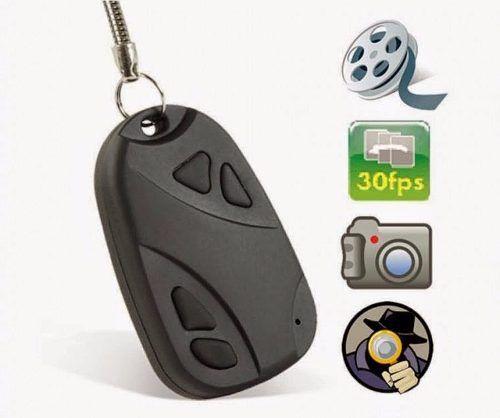 Chaveiro Espião Filmador Grava Video e Tira Foto