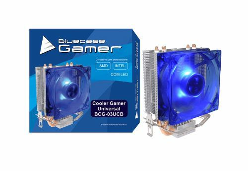 Cooler Universal Base De Cobre Bluecase Bcg-03ucb Led Azul