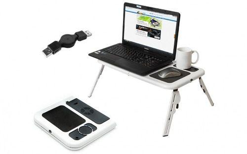 Mesa Notebook Com Cooler Dobrável e Suporte Mouse