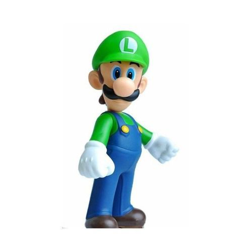 Boneco Luigi Coleção Super Mario Bros Action Figure 23cm