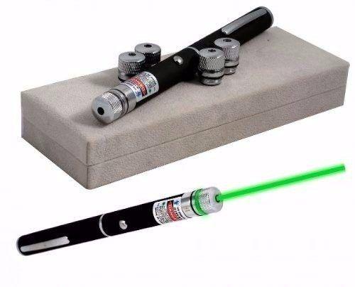 Caneta Laser com Lanterna 5 Pontas Verde