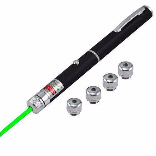 Caneta Laser Pointer Verde Lanterna com 5 Pontas