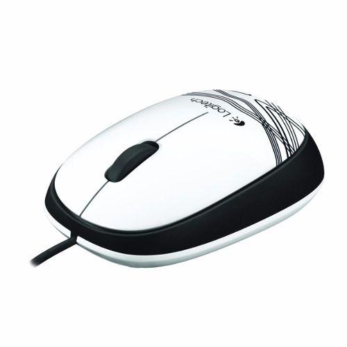 Mouse Óptico Branco Com Fio Confortável M105 Logitech