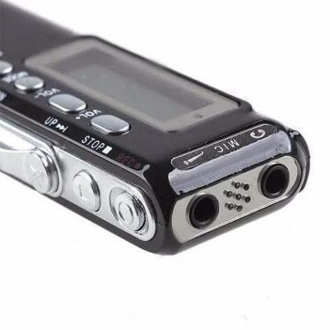 Gravador De Voz Digital 8Gb Portátil com Gravação Telefônica