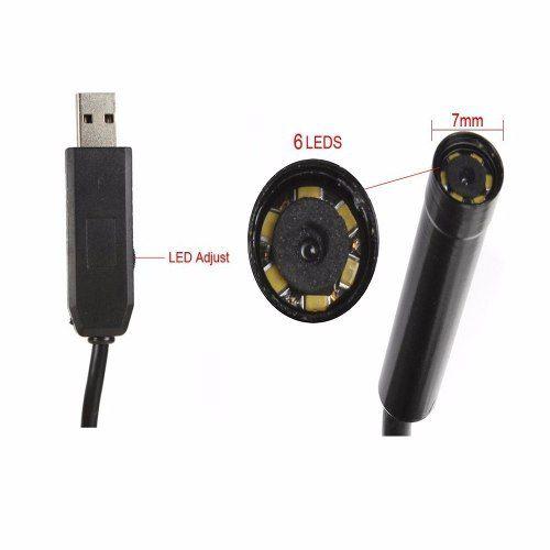 Sonda Usb 5 Metros Boroscópio Micro Câmera Com Leds