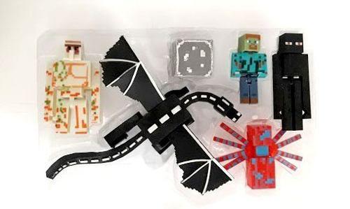 Kit Coleçao Minecraft 06 Peças Bonecos Articuláveis