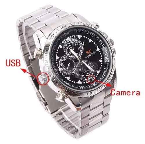 399740cfa28 ... Relógio Espião 8gb Camera Espiã Filmadora Filma E Tira Foto ...