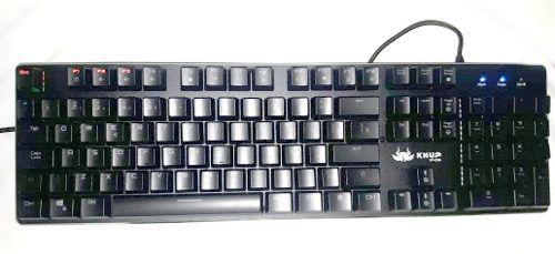 Teclado Mecânico Gamer Iluminado Switch Azul KP-2046 Knup