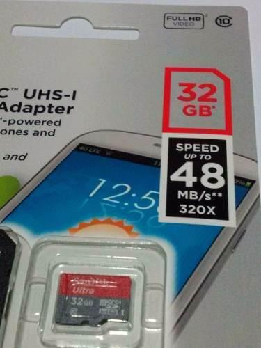 Cartão 32gb Ultra - Micro Sd Classe 10 Sandisk