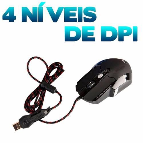 Mouse Gamer 3.200 Dpi Laser + Mousepad Warrior - Multilaser