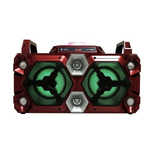 Caixa De Som Bluetooth Led Microfone Controle Usb Sd Voxcub