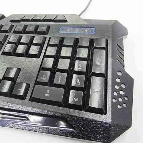 Teclado Gamer Luminoso Multímidia Usb BK-G35 - Exbom