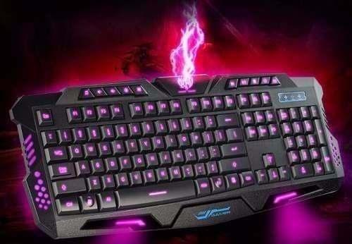 Kit Teclado e Mouse Gamer Com Iluminação LED