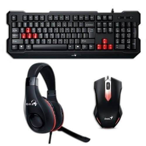 Kit Gamer Teclado + Mouse + Headset Genius Kmh-200