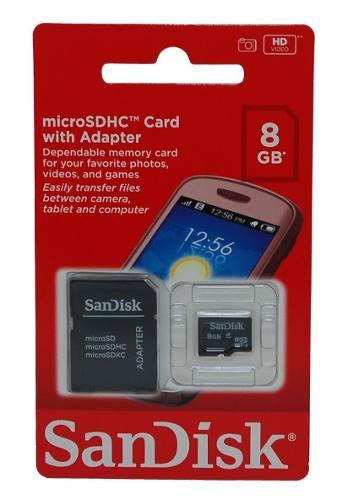 Cartão De Memória 8gb MicroSD - Sandisk