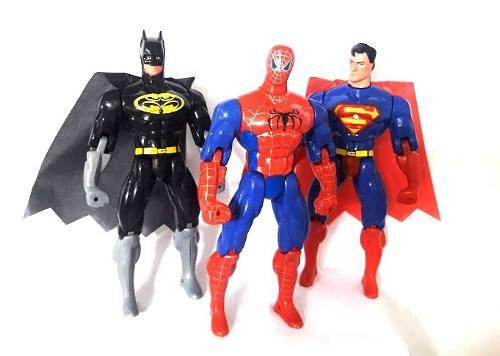 Batman ou SuperMan ou Homem-Aranha - Boneco Brinquedo