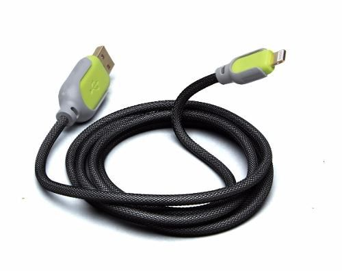 Cabo Lightning Iphone Ipad Reforçado Com Malha De Aço