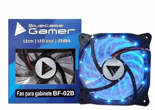 Fan Cooler Led Para Gabinete Ventoinha 12cm Azul Bluecase