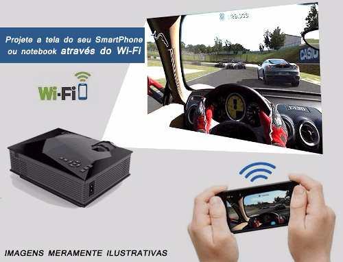 Projetor Led Wi-fi - Hdmi Vga Usb Sd - Datashow 1200 Lumens