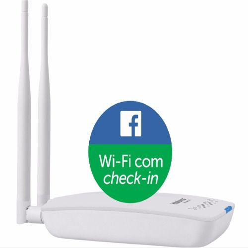 Roteador Wireless Check-in No Facebook Hotspot 300 Intelbras