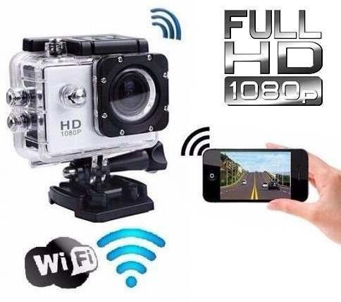 Câmera Fullhd Wi-fi Filmadora Esporte Capacete Prova D'agua