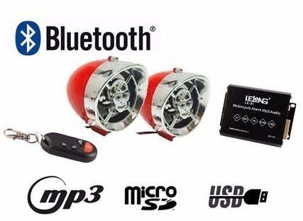 Alarme Moto Caixa De Som Mp3 Usb Bluetooth Fm Cartão Sd