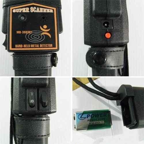Detector De Metais Sensibilidade Arma Segurança Portátil