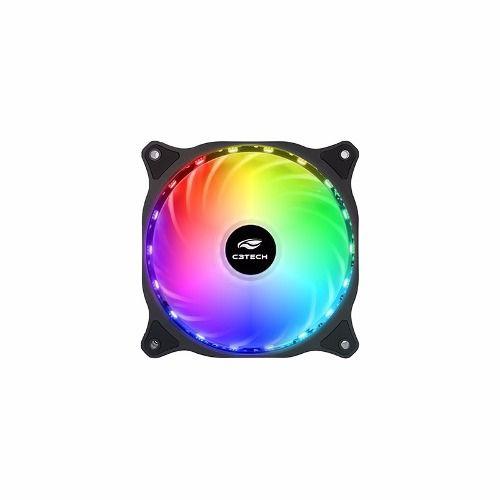 Cooler Fan C3tech Para Gabinete 12cm Colorido F9-L150RGB