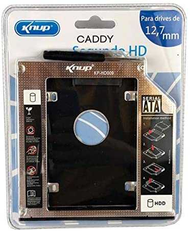 Adaptador Caddy 12,7mm para HD ou SSD 2,5