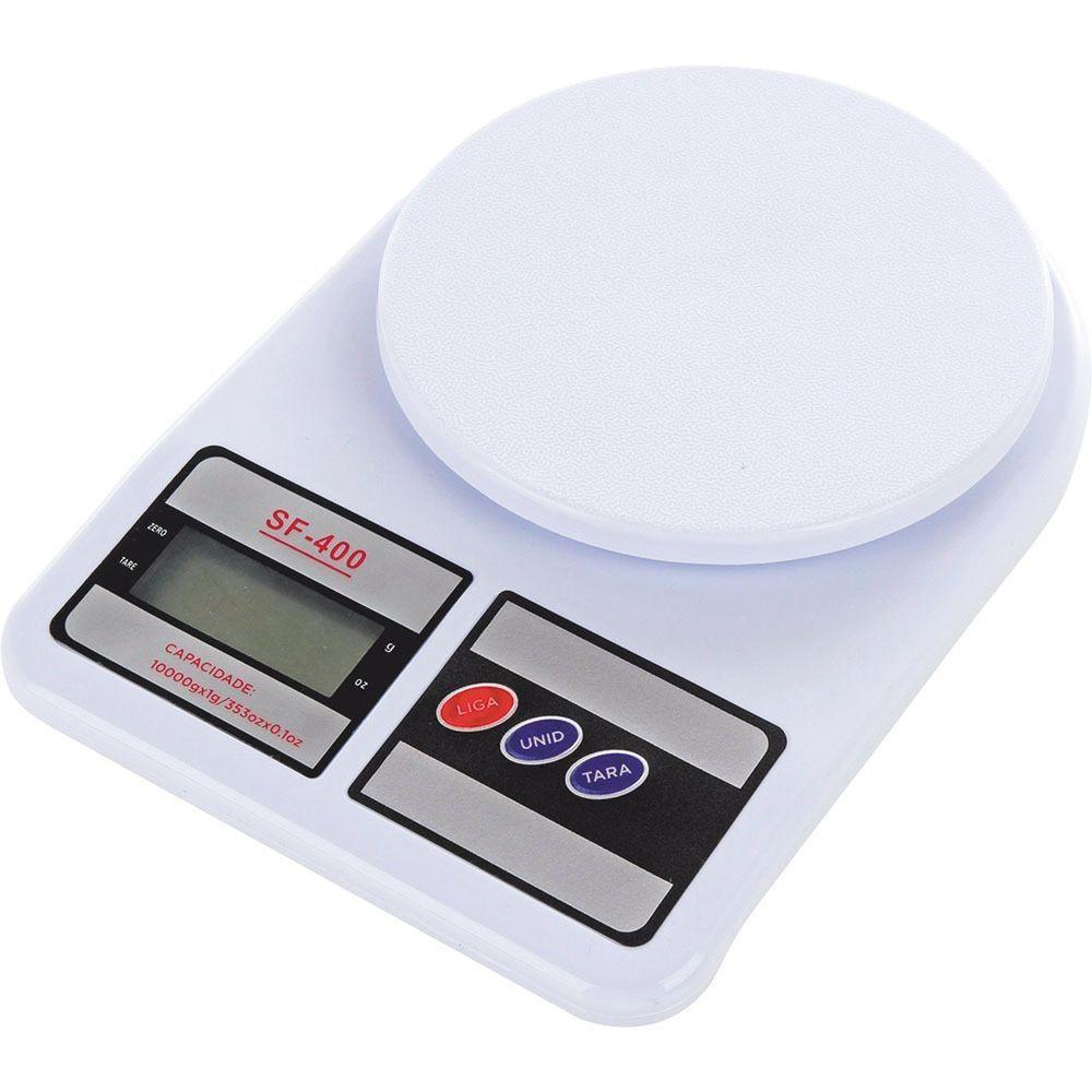 Balança Digital De Cozinha Alta Precisão Com Variação De Peso De 1 G Até 10 Kg - Sf400