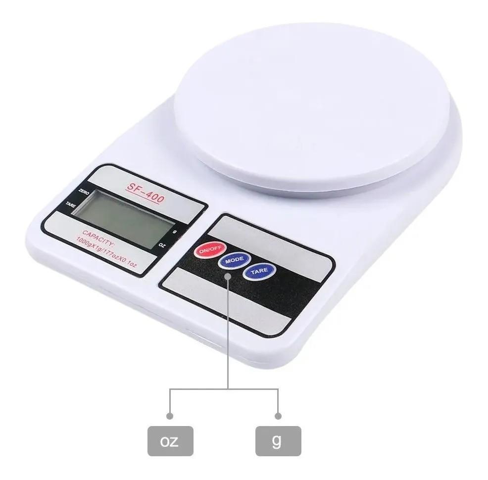 Balança Digital de Cozinha até 10 kg 1,5 v Acompanha 2 pilhas AA Aiker Sf - 401