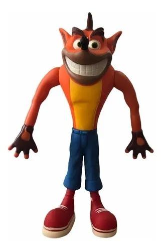Boneco Crash Bandicoot Action Figure 23cm Colecionável