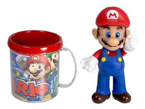 Boneco + Caneca Personalizada Super Mário