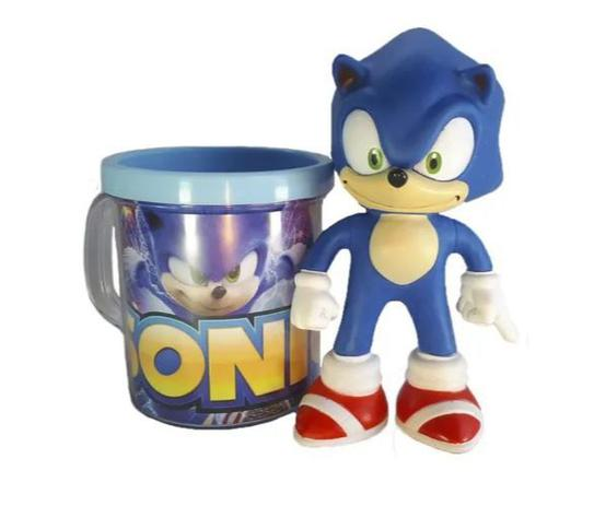 Boneco + Caneca Personalizada Sonic