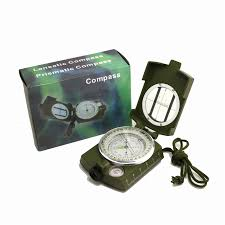 Bússola Lensatic Compass Portatil Metal Alta Precisão