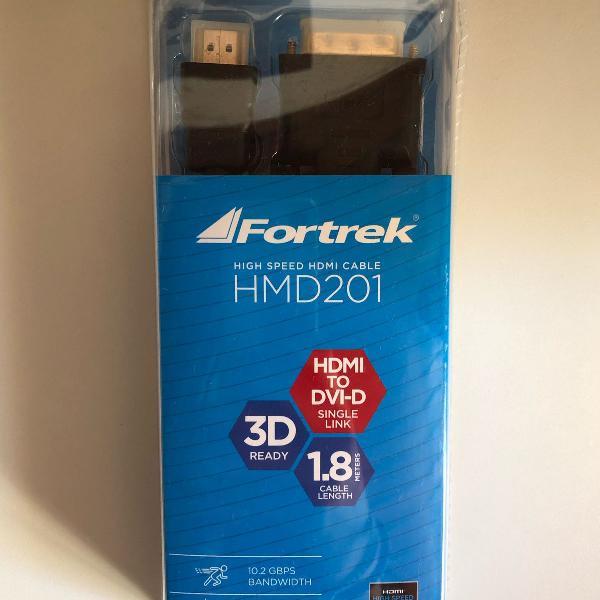 cabo hdmi x dvi-d high speed  1 8m 3d ready fortrek hmd-201