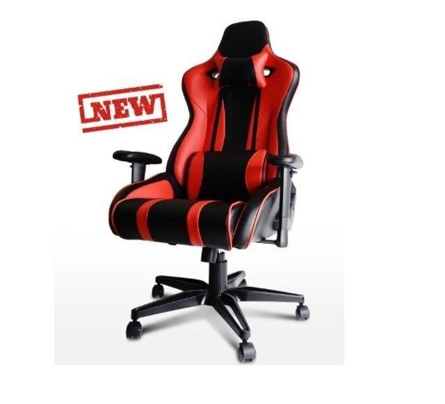 Cadeira Gamer vermelha Encosto Reclinável  apoio de braços e giratória Maxtill Bonanza A10