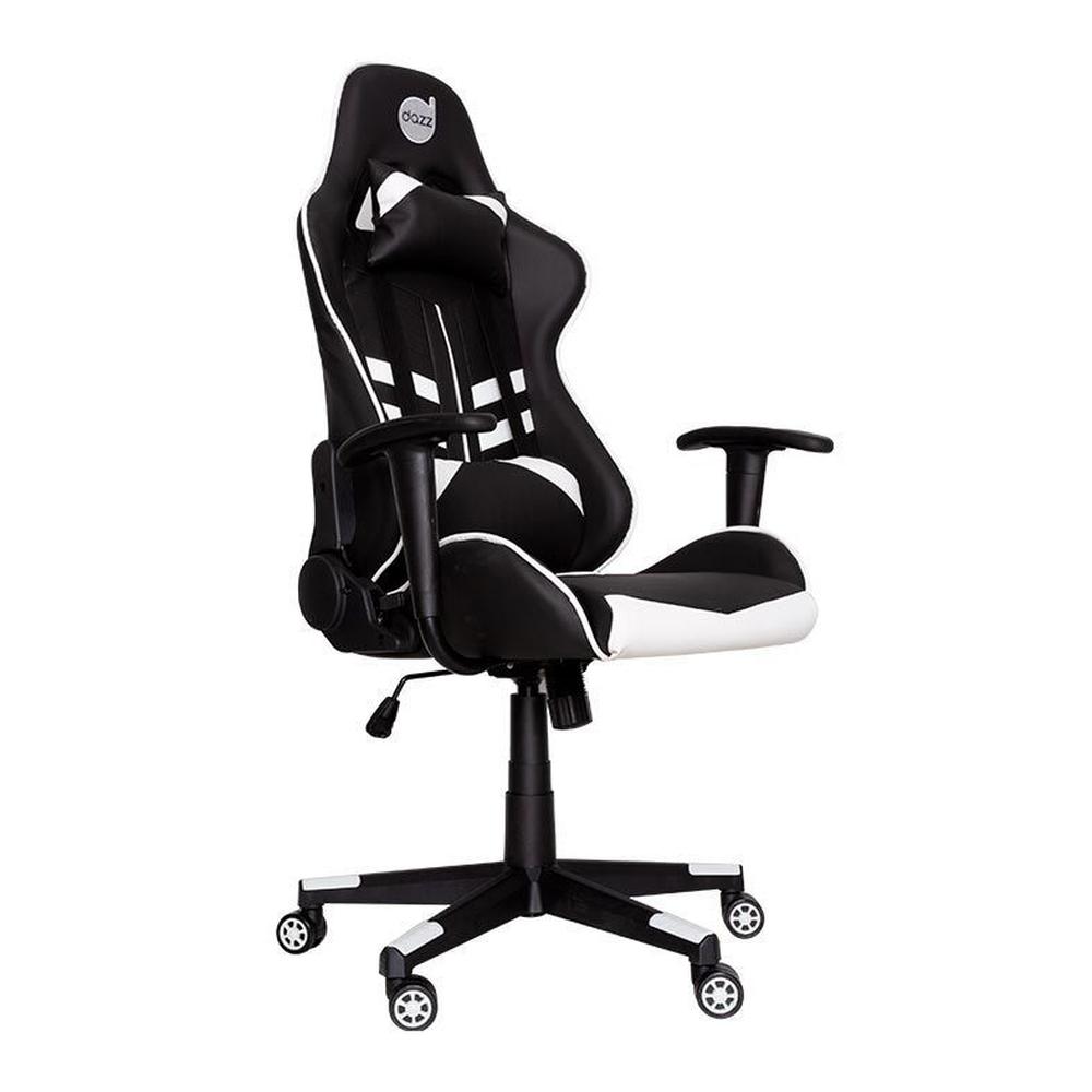 Cadeira Gamer Dazz Prime-X Com Apoio de Braço - Preto/Branco
