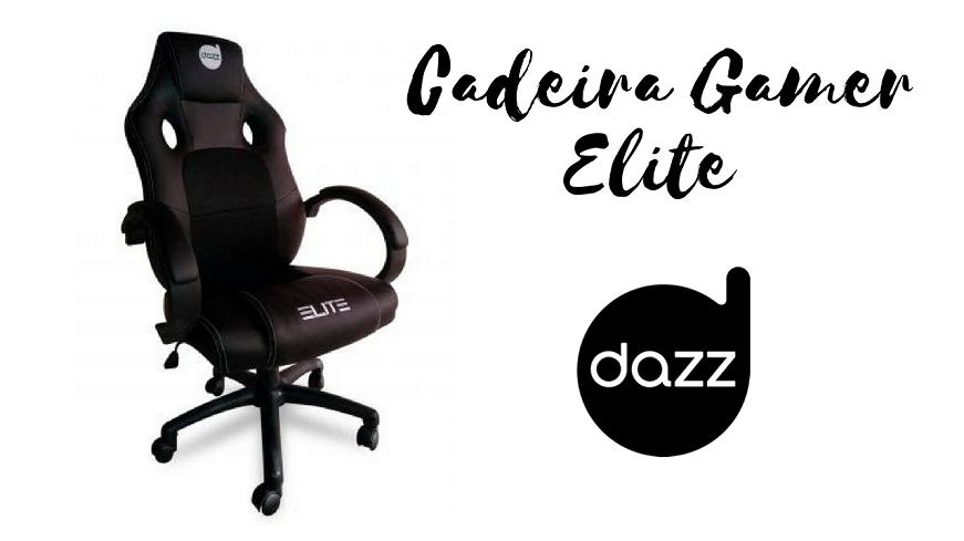 Cadeira Gamer Giratória Ajustável Elite - Dazz