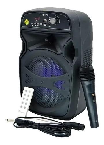 Caixa De Bluetooth Com Controle E Karaoke Kts-1061