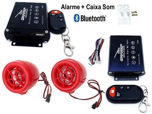 Caixa De Som Alarme Para Moto Bluetooth Usb Rádio M200b