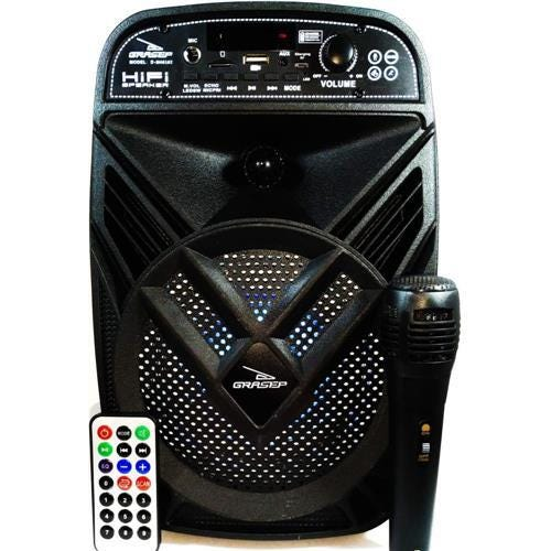 Caixa de Som com Microfone D-BH6102 - Grasep