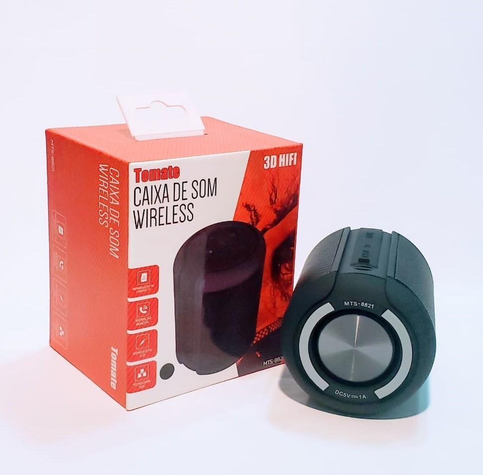 Caixa De Som Bluetooth 4.2 5W  DC 5V 1A 3d Hifi Tomate Mts-8821