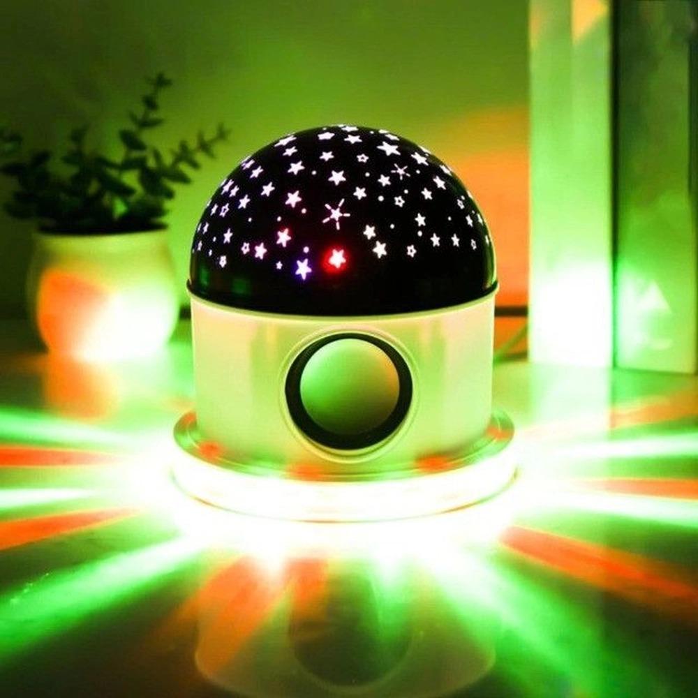 Caixa de Som Bluetooth com Luz Estrelar LED RGB - LT-CT026