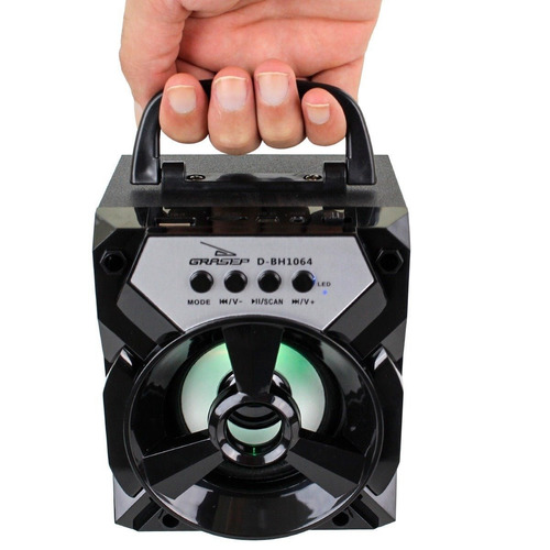 Caixa De Som Bluetooth Portátil Rádio Fm Micro Sd DBh1064