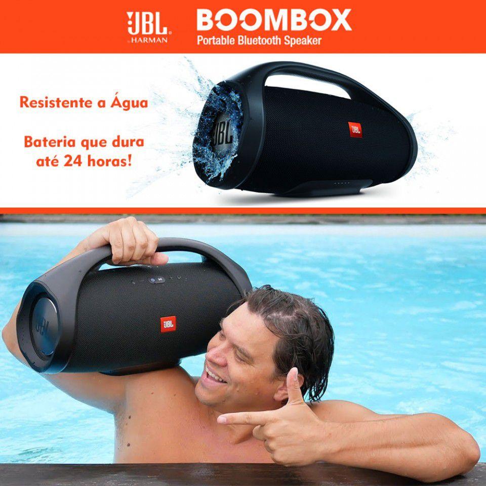 Caixa de Som JBL Boombox Bluetooth Preta