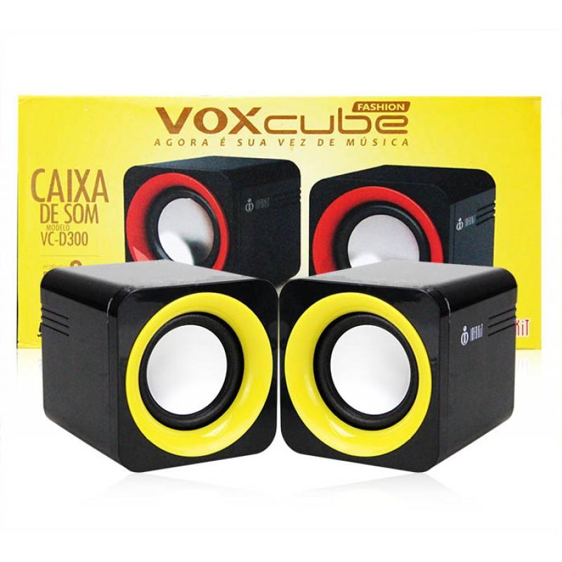 Caixa de Som com entrada p2 e usb para Pc, Notebook, Celular Voxcube  Vc-D300